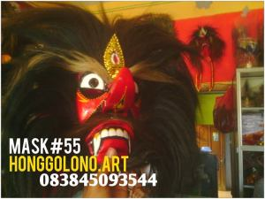 Topeng Bujangganongan Murah,, Rambut Kuda Hitam, Bertaring http://facebook.com/topeng.ponorogo